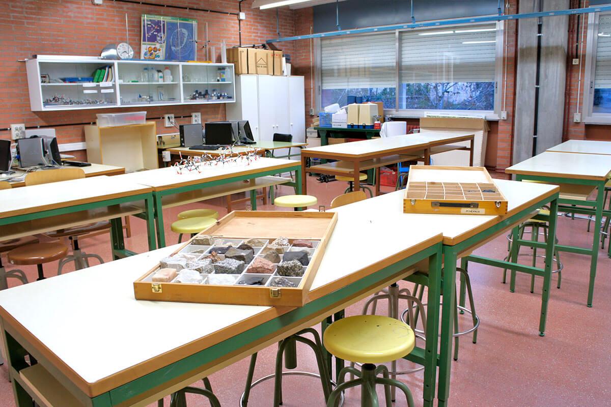Laboratori de física de l'Institut Torre Vicens