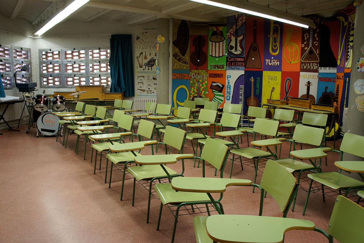 Aula de música de l'Institut Torre Vicens